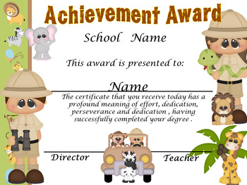 Safari Achievent Award