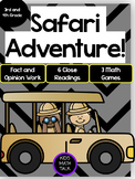 Safari Adventure! Jane Goodall ELA and Math Extravaganza