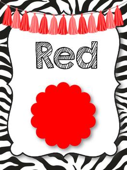 Safari   Jungle Themed Color Posters