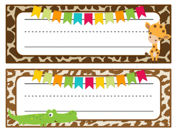 Safari | African Themed Desk Name Tags