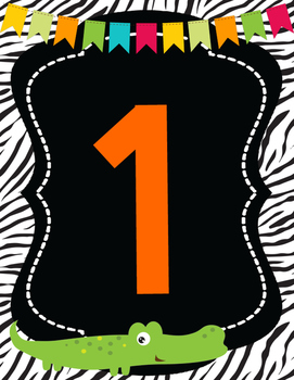 Safari | African Themed Number Posters *0-20*