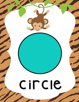 Safari | African Themed Shape Posters