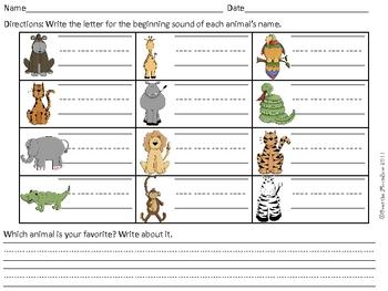 Safari Alphabet Beginning Sounds Game