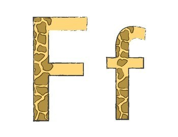 Safari Alphabet Line Capital and Lowercase Letters A-Z