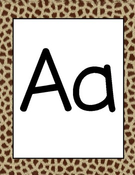 Safari Alphabet Cards