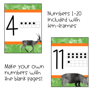 Safari Alphabet and Printables