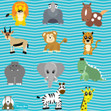 Safari Animal Clipart | Zebra, Giraffe, Elephant, Oh My! Digital Download