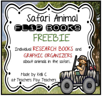Safari Animal Flip Books FREEBIE - Informative Writing abo