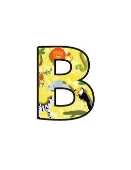 Safari Animal Lettering (Upper/lowercase, cursive, numbers, shapes, symbols)