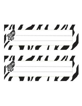 Editable Safari Animal Name Tags