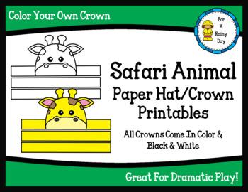 Safari Animal Paper Hat/Crown Printables
