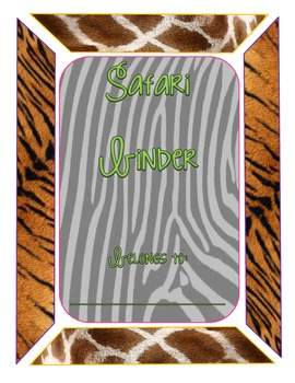 Safari-Animal Print Binder Cover