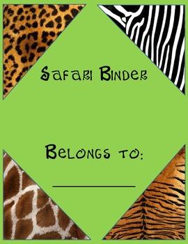 Safari-Animal Print Binder Cover *