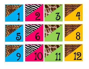 Safari-Animal Print Calendar Set *