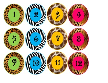 Safari-Animal Print Calendar Set **