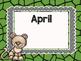 Safari / Animal Print Classroom Decor: Birthday Chart