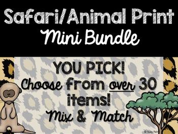 Safari / Animal Print Classroom Decor: Build Your Own Mini Bundle