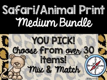 Safari / Animal Print Classroom Decor: Build Your Own Medium Bundle