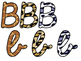 Safari / Animal Print Classroom Decor: Bulletin Board Script Letters