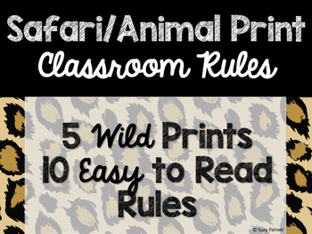 Safari / Animal Print Classroom Decor: Classroom Rules