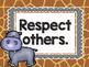 Safari / Animal Print Classroom Decor: Classroom Rules