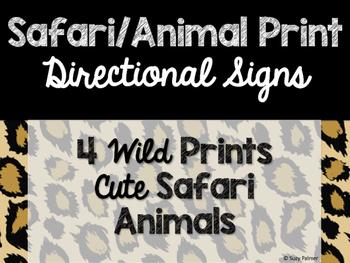 Safari / Animal Print Classroom Decor: Directional Signs