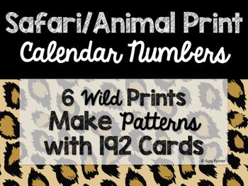 Safari / Animal Print Classroom Decor: Calendar Numbers
