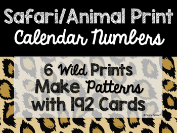 Safari / Animal Print Classroom Decor: Calendar Numbers
