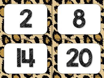 Safari / Animal Print Classroom Decor: Numbers 1-100