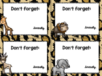 Safari / Animal Print Classroom Decor: Notes from Teacher