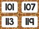 Safari / Animal Print Classroom Decor: Numbers 101-200