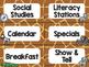 Safari / Animal Print Classroom Decor: Schedule Cards