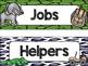 Safari / Animal Print Classroom Decor: Student Jobs