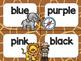 Safari / Animal Print Classroom Decor: Table Signs
