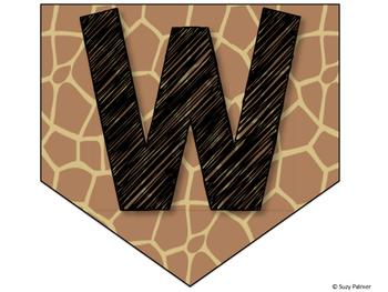 Safari / Animal Print Classroom Decor: Welcome Banner