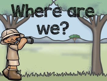 Safari / Animal Print Classroom Decor: Where Are We? Sign
