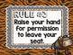 Safari / Animal Print Classroom Decor: Whole Brain Teaching Rules FREEBIE
