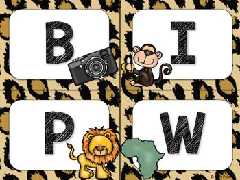 Safari / Animal Print Classroom Decor: Word Wall Headers