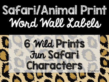 Safari / Animal Print Classroom Decor: Word Wall Headers