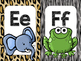 Safari / Animal Print Classroom Decor: Alphabet Cards