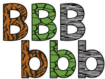 Safari / Animal Print Classroom Theme Decor: Bulletin Board Block Letters