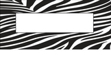 Safari Animal Print Nametag Label