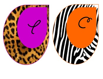 Safari-Animal Print Welcome Circles ***