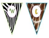Safari-Animal Print Welcome Pennants