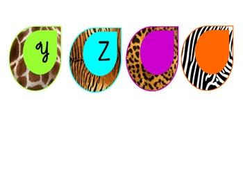 Safari-Animal Print Word Wall Letters ***