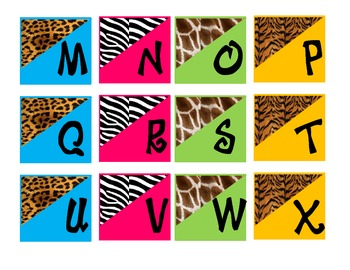 Safari-Animal Print Word Wall Letters *