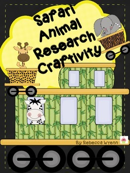 Safari Animal Research Craftivity Animal Park