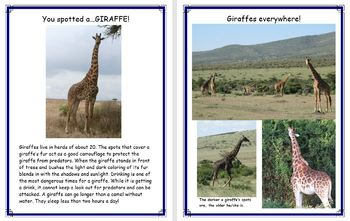 Safari Animal Scavenger Hunt