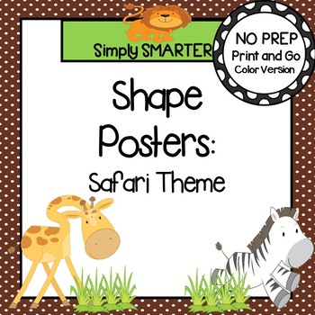 Shape Posters:  Safari Animal Theme