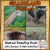 Grasslands Animals Literacy & Math Packet